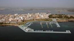 Porto Xifonio, nell'omonimo golfo a nord di Augusta (estraneo a Priolo e Melilli) è in cotruzione (foto aerea simulata)