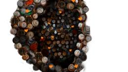 Cloe installation, una scultura realizzata a fini di propaganda medica: un cuore fatto di orologi, simbolo del battito e della puntualità con cui seguirne le vicende e le cure