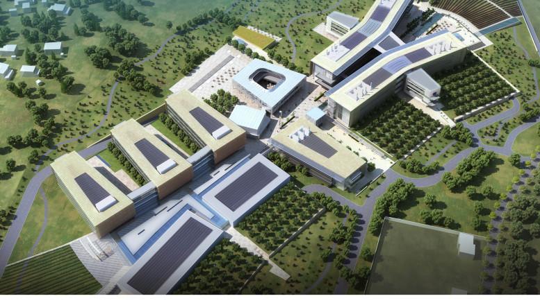 Rendering del nuovo centro ospedaliero: sta per essere bandita la gara
