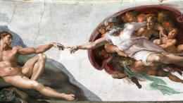 Il famoso affresco di Michelangelo: Dio coinvolge l'uomo nell'essere e in una missione. Il grande artista capiva...