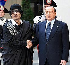 Berlusconi e Gheddafi a Roma