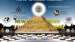 """Si noti in questa immagine """"ufficiale"""" la presenza dei marchi della Trilaterale (a sx), del Bilderberg e persino dell' Onu (United Nations a dx). L'occhio divino e la perfezione """"egizia"""" della piramide sono i simboli di una sorta di """"religione delle religioni"""" tipica della massoneria..."""