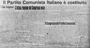 Primi decenni del 1900: nasce il nuovo partito comunista