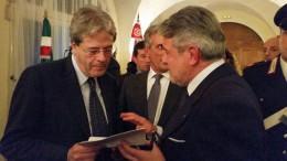 Giovanni Tumbiolo e Paolo Gentiloni
