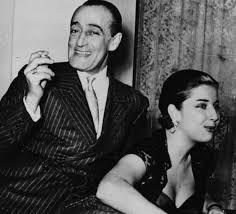Con la moglie Franca Faldini compagna d'una vita dopo amari trascorsi amorosi