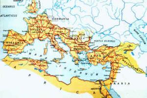 Le antiche vie consolari di Roma che aveva precorso il mondo moderno ancora da rifondare e con l'imperatore Marc'Aurelio aveva inviato una spedizione all'imperatore della Cina che tornò con preziosissima seta e spezie.