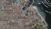 Palermo, foto aerea del centro storico (la città murata).