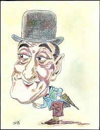 Fu anche uno dei volti più caricaturati: si prestava...