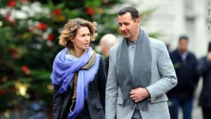 La più europea delle coppie nel mondo musulmano. Assad, qui con la moglie Asma stava facendo della Siria una gran potenza come fu nella storia...