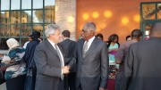 Da dx Ambasciatore Angola in Italia Florencio de Almeida e Pres Distretto Giovanni Tumbiolo