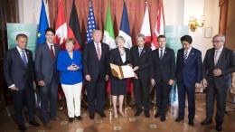 Sette ma son di più. Dalla foto mancano altri, ospiti dai paesi in sottosviluppo etc... Mancano Russia e Cina...