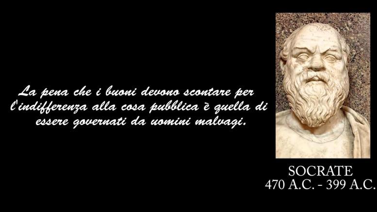 Socrate invita a ...partecipare e, come tanti oggi, vedeva i politici  come geni del male. Ma noi, qui, pretendiamo di illustrarne anche altre caratteristiche...