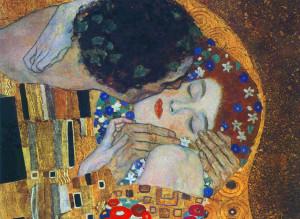 Il bacio di Klimt, particolare