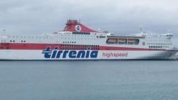 """""""Tirrenia bonaria"""" la grande nave traghetto ad alta velocità in servizio da e per Palermo"""
