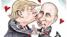 Il noto caricaturista americano vede così l'amore Trump - Putin...