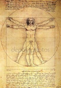Quando si parla di equilibrio e salute el corpo il pensiero corre all'Uomo Vitruviano di Leonardo