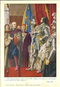 Carlo III di Francia dovette tornare indietro di fronte alla determinata reazione di Pier Capponi