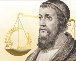 """Archimede, noto per la legge sul galleggiamento, inventò: la gru, la catapulta, la """"vite"""" per pompare l'acqua dai pozzi..."""