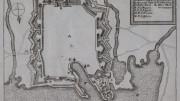 "Pianta della città tratta dal ""Ausfuerliche und Grundriehtige Beschreibung des gantzen Italiens oder Welschlandes"" opera edita a Francoforte e Lipsia nel 1692."