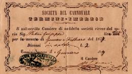 Ricevute di pagamento intestate a Giuseppe Patiri per l'organizzazione del carnevale di Termini