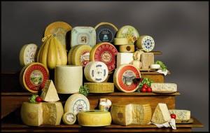 I formaggi come i salumi e soprattutto i vini, sono per qualità e varietà una forza dell'Italia
