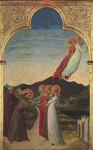 Sposalizio mitico di San Francesco con le Tre Virtù teologali (1450 c.ca) Sassetta