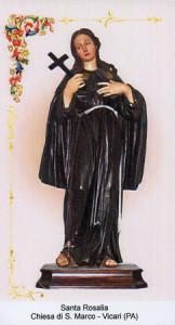 La Santa Rosalia della Chiesa di San Marco a Vicari