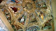Allegorie come queste, nella Basilica di San Lorenzo maggiore, Cappella paleo medievale di S. Aquilino. a Milano, sono l'esaltazione della fede attraverso l'immagine sacra aggredita dagli iconoclasti. San Marco è fra i dottori,  S. Agostino e Leone Magno. I dipinti a fresco, di pregevole fattura. sono successivi ed evidentemente rinascimentali: i costumi sono del tempo dell'autore con liberi spunti puramente fantastici su un'immaginaria realtà di epoche più antiche...