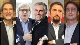 Fra i candidati c'è anche Sgarbi: riesece a stare sempre nel mezzo...