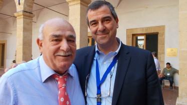 Dario Cartabellotta dirigente generale Pesca della Regione con il nostro direttore Germano Scargiali dopo un'intervista a Siciliauno Tv