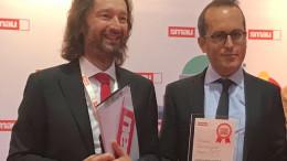 Pierantonio Macola e il giornalista Vincenzo Lombardo