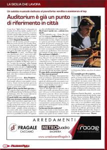 Una pagina della rivista: questa voltasi parliamo di pianoforte