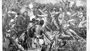 """La Battaglia di Adua in una stampa dell'epoca. Non si era ancora nel '900, con l'Italia unita da soli 30 anni. L'esercito disponeva già di """"ascari"""", truppe di colore reclutate in loco. Fu fra le più dure sconfitte (per l'enorme numero dei soldati schierati dal Negus). Bersaglieri, Alpini e Lagunari erano già il vanto della fanteria italiana. Sul campo i soldati italiani (in quell'occasione e sempre) si sono storicamente distinti nelle vittorie come nelle sconfitte.  Persino nell'ultimo sbarco americano in Sicilia, almeno in 3 occasioni provate, le postazioni issarono il tricolore nelle ultime ore, al grido di """"fino alla morte"""". Lo stesso avvenne a Giarabub dopo mesi di resistenza contro i carri anglo australiani e neozelandesi di parte di una piccola guarnigione comandata da un siciliano. Nell'ultima guerra i carristi poterono coniare il motto più noto di cui vanno fieri: mancò la fortuna non il valore... Eroismo e umanità dimostrano anche nelle """"missioni"""" di oggi.  Furono complimentati anche da Rommel ad El Alamein: """"il soldato tedesco ha stupito il mondo, quello italiano ha stupito il soldato tedesco"""". L'Inghilterra aveva schierato contro italiani e tedeschi uomini e carri armati di tutto il Commonwealth. Essa fece il mero gioco degli Usa, veri avversari dell'intera Europa, che hanno impedito, anche con mezzi politici (fino ad oggi) la fruizione delle materie prime dell'Africa all'Europa. In Russia prima della ritirata gli italiani sì lanciarono in cariche di cavalleria tradizionali, per quanto dell'ultima si vantino i Cosacchi... Si sperava che la Germania approntasse in tempo la promessa arma segreta. La posta in palio - non si dice - era altissima. (G.S.)"""