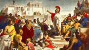 L'epitaffio di Pericle. Nipote di Platone, ne capiva gli errori e lo avversò. Pericle fu l'uomo che realizzò  per primo la democrazia e sognò la piena libertà in Atene. Diede alla dottrina forma teorica e ne tentò per primo l'attuazione pratica dichiarandone la prospettiva liberale e libertaria. Non a caso il termine stesso di democrazia comparve per la prima volta nell'età che da Pericle prese il nome. Idea centrale di Pericle fu che l'assemblea di tutti i cittadini ateniesi, l'Ecclesia, avesse il diritto di decidere il destino di Atene senza altri limiti che quelli imposti da se stessa. Il Marxismo è invece figlio di Hegel e, quindi del platonismo. Democrazia e libertà sono gli imperituri ideali sociali da raggiungere.