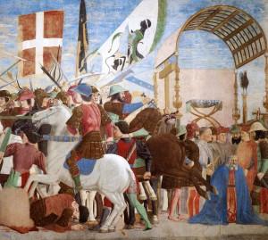 Pero Della Francesca assieme a Brunelleschi crea la prospettiva: per la prima volta ecco l'immagine assonometrica. La forografia ne confermerà il rigore, come avviene per il colore dell'ombra concepito da Leonardo...