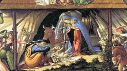Natalità mistica di Botticelli (particolare). Londra National gallery.
