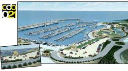 Il rendering al vero che rende al meglio il Marina: ora è realtà. Il laghetto dietro il complesso di club house  serve a valorizzare un sito archeologico,