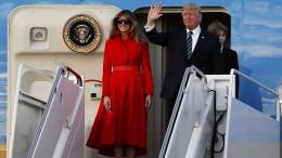 """Trump e la moglie Melania protagonisti di molte visite ufficiali:  politica internazionale, dialogo e trattativa innanzi tutto. Ma la stampa avversa ignora... Melania ha appreso la sua splendida postura lavorando come modella in Italia e ha trasmesso a """"The Donald"""" l'amore per l'italianità..."""