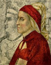 Dante Alighieri condensò nella Commedia la teologia la scienza com'era giunta sino alla fine del Medio Evo. Il maggior poeta dell'Italia e del mondo è considerato, tuttavia, Giovanni Petrarca.