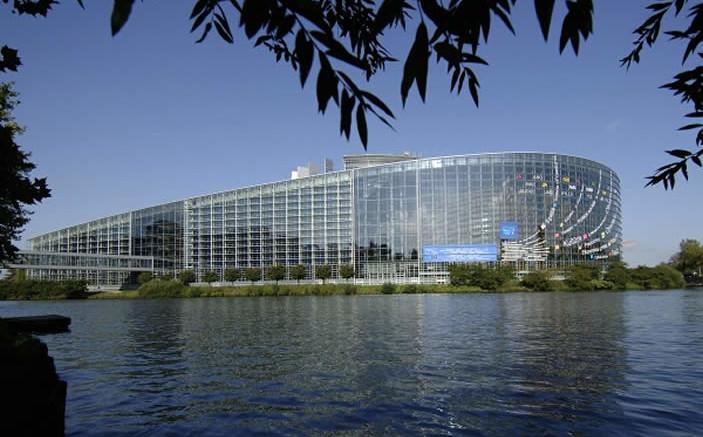 Un'immagine insolita del parlamento Europeo a Bruxelles, presieduto dall'italiano Antonio Taiani. Il Parlamento è il più importante organo UE...