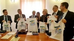 Da sx Ass Bandiera, Pres Tumbiolo, Sottsegretario libico Douzan,  Sindaco Cristaldi, Ass Lagalla, Dirett alla pesca Cartabellotta