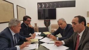 Da sx Giovanni Tumbiolo_ DirettPesca Tunisia Ridà Mrabet e Sottosegretario Pesca Abdallah Rabhi