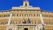 Montecitorio, storico palazzo, sede della camera di Deputati a Roma
