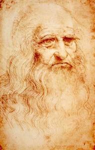 L'autoritratto, eseguito con il suo inconfondibile stile che si è imposto per sempre nell'arte del disegno.
