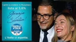 Giorgia Meloni ci ha messo la faccia nella campagna per Musumeci presidente. Ora affrontano le nazionali...
