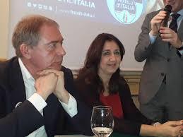 Visibili nella foto Adolfo Urso e Tania Pontrelli