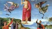 """Raffaello Sanzio, Resurrezione di Cristo. L'arte ha rappresentato sotto infinite forme la religione, privilegiandola nel Medio Evo e nel Rinascimento. Così ha fatto anche l'architettura fino al Barocco, momento topico della passione religiosa sotto il profilo espressivo. Esso rappresenta la molteplicità del cosmo e la fatica della fede contro il dubbio, nella fantasmagoria del creato. Per questo il Barocco è lo stile più """"imitato"""" anche nelle piccole chiese di campagna e, peraltro, suscita tanto interesse artistico nelle città d'arte... Non c'è dubbio che il proiettarsi dello spirito umano nell'arte costituisca - anche per il ridotto risvolto pratico - una manifestazione e una ricerca del Divino."""