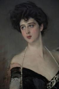 Donna Franca nel quadro di Boldini (Particolare)
