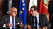 Presidente della Regione (a dx) e vicepresidente:  Musumeci ha affidato a Gaetano Armao, un tecnico che aveva anche già ricoperto l'incarico, il problema di rimettere a posto i conti della Regione e poi di farli funzionare a dovere.
