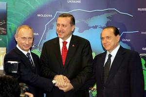 Putin, Erdogan, Berlusconi insieme per una politica del Mediterraneo.